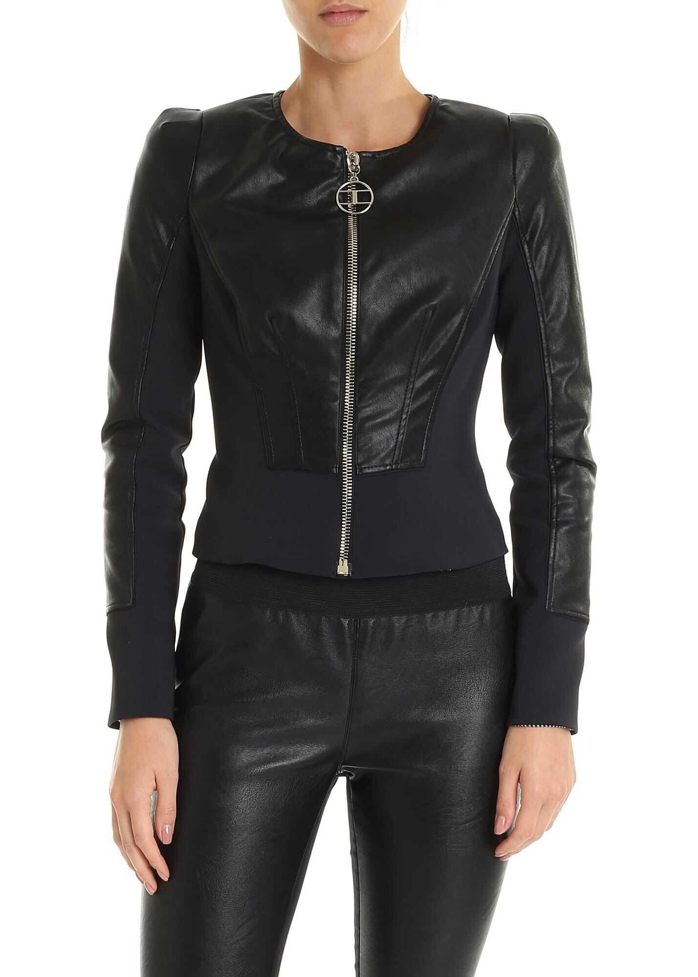 Elisabetta Franchi Black Short Jacket Black