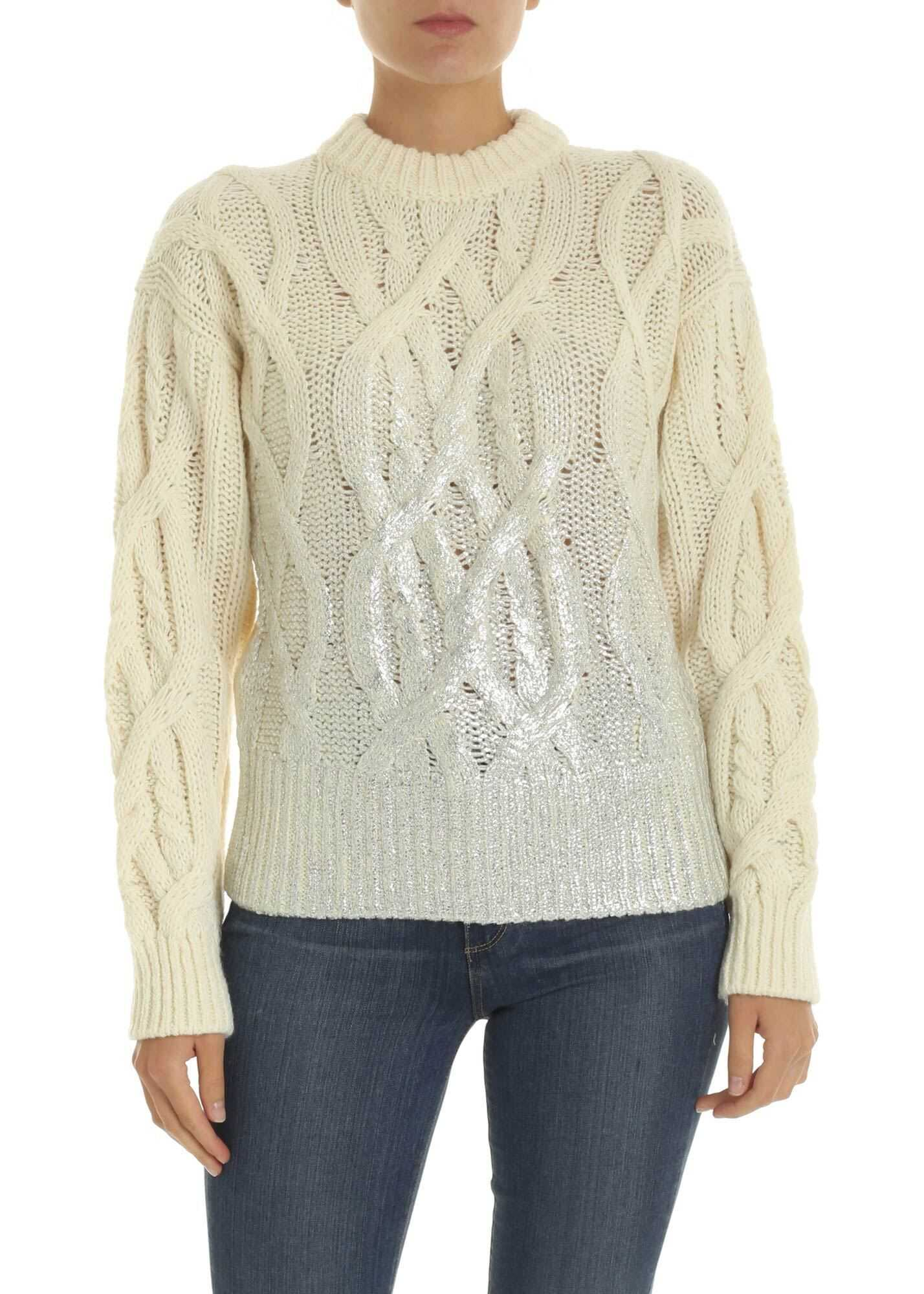 Pinko Etiope Pullover In Ivory Color White