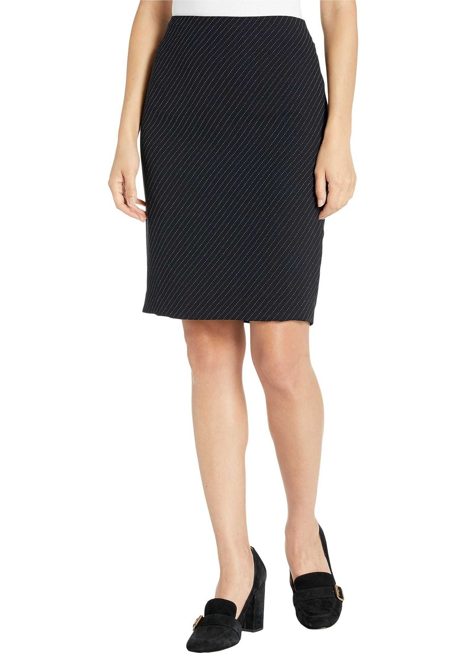 Calvin Klein Novelty Skirt Navy/White