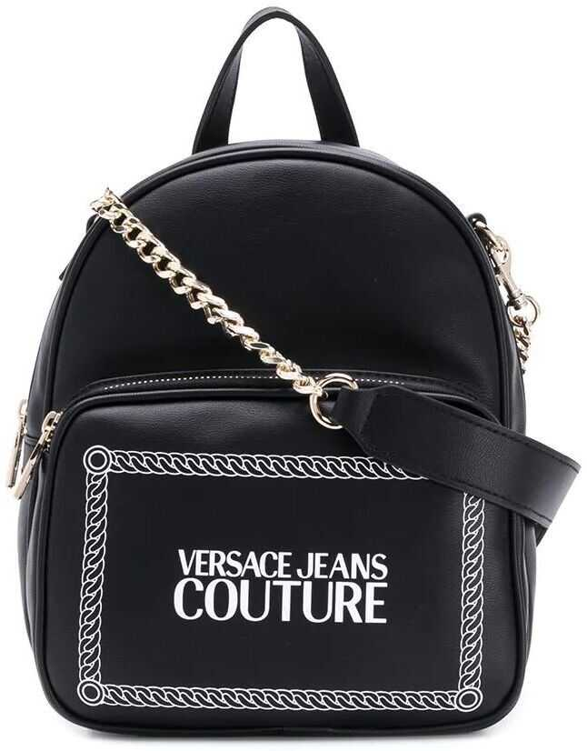 Versace Jeans Faux Leather Backpack BLACK