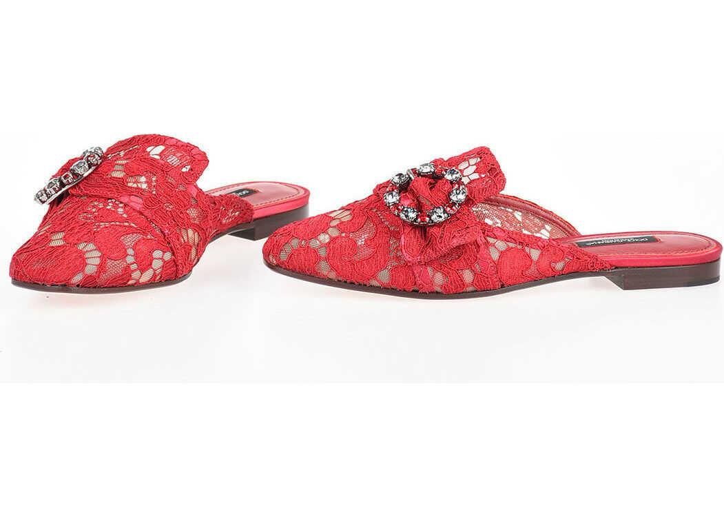 Dolce & Gabbana Laced Mule RED