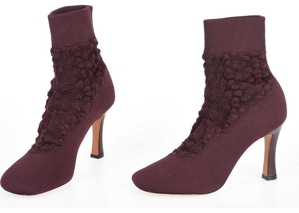Céline 9cm Knitted Boots VIOLET