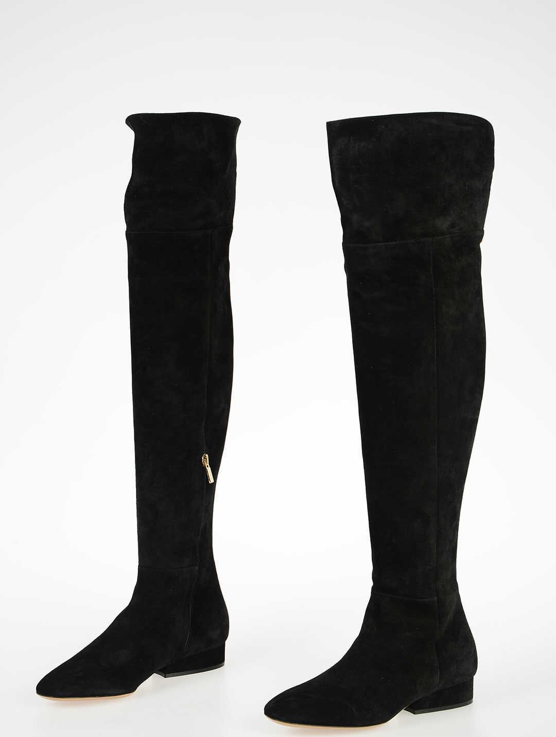 Salvatore Ferragamo Suede Leather CREMONA boots BLACK