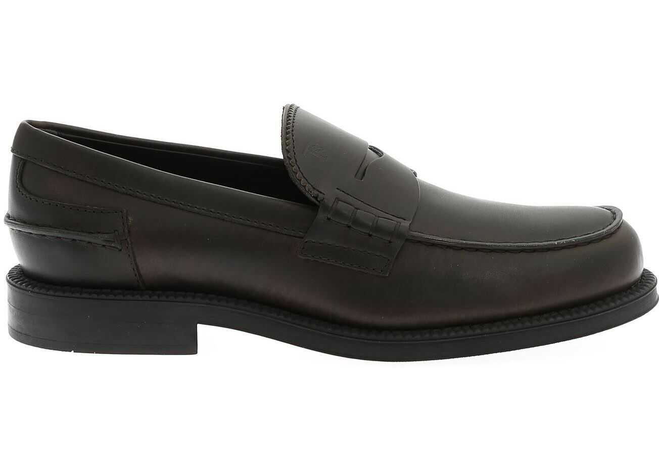 Loafers In Brown Leather With Penny Bar thumbnail