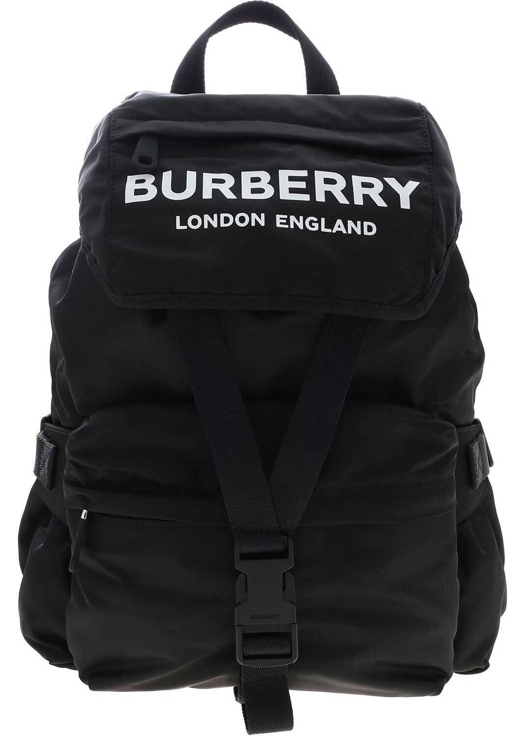 Wilfin Backpack In Black With Logo Print thumbnail