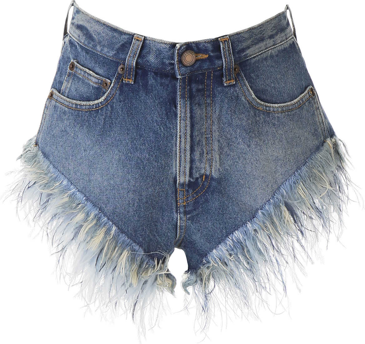 Denim Shorts With Feathers thumbnail
