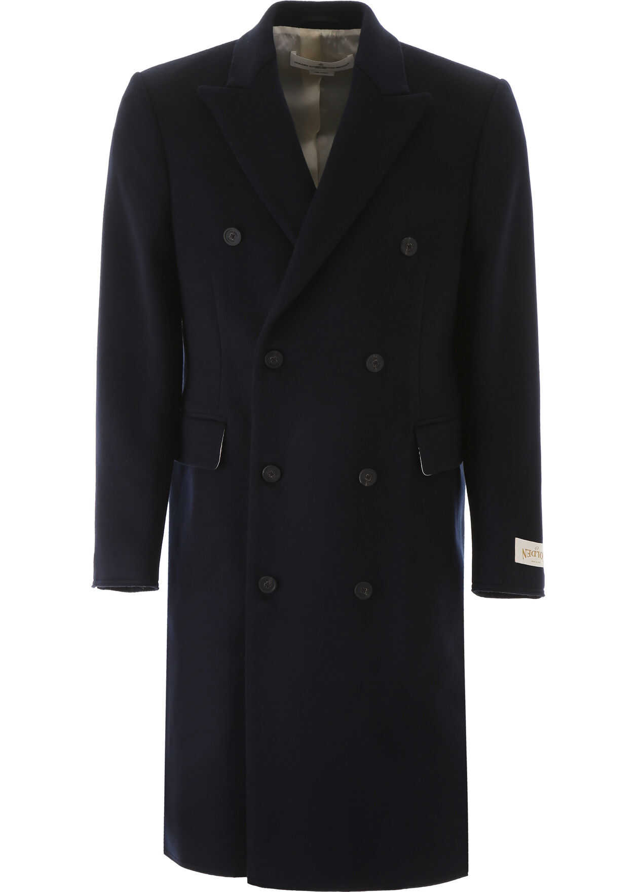 Golden Goose Double-Breasted Coat NAVY