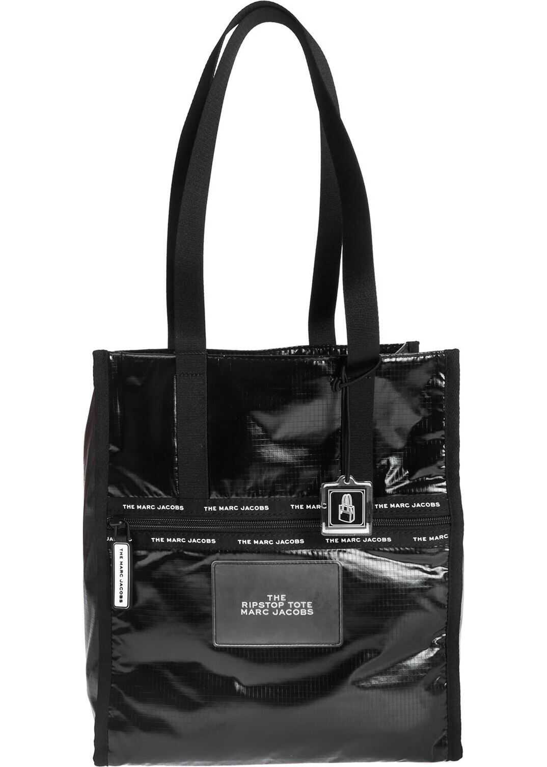 Marc Jacobs The Ripstop Tote Bag In Glossy Black Black