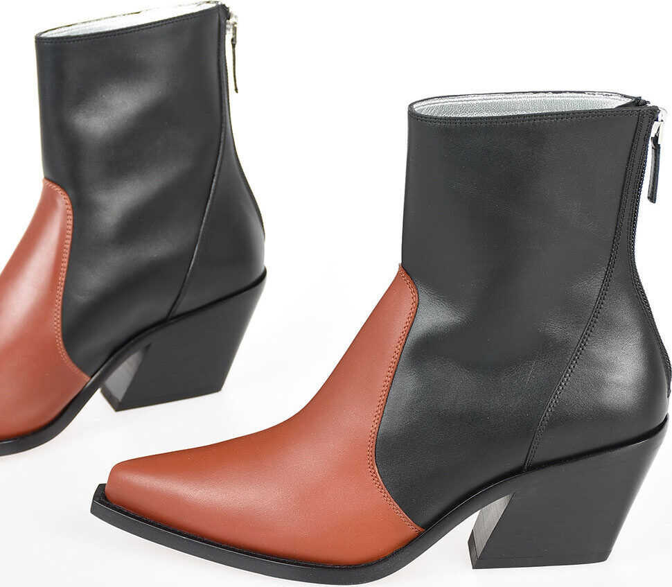 Givenchy 6cm Leather Cowboy Boots BLACK