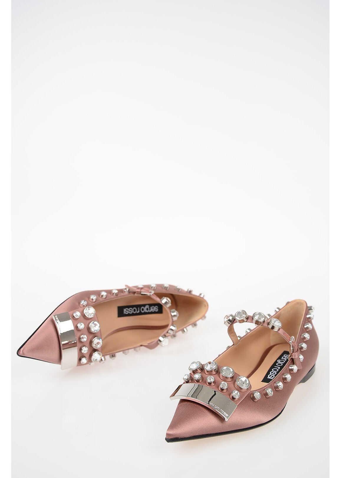 Sergio Rossi Jewel Ballet Flat PINK