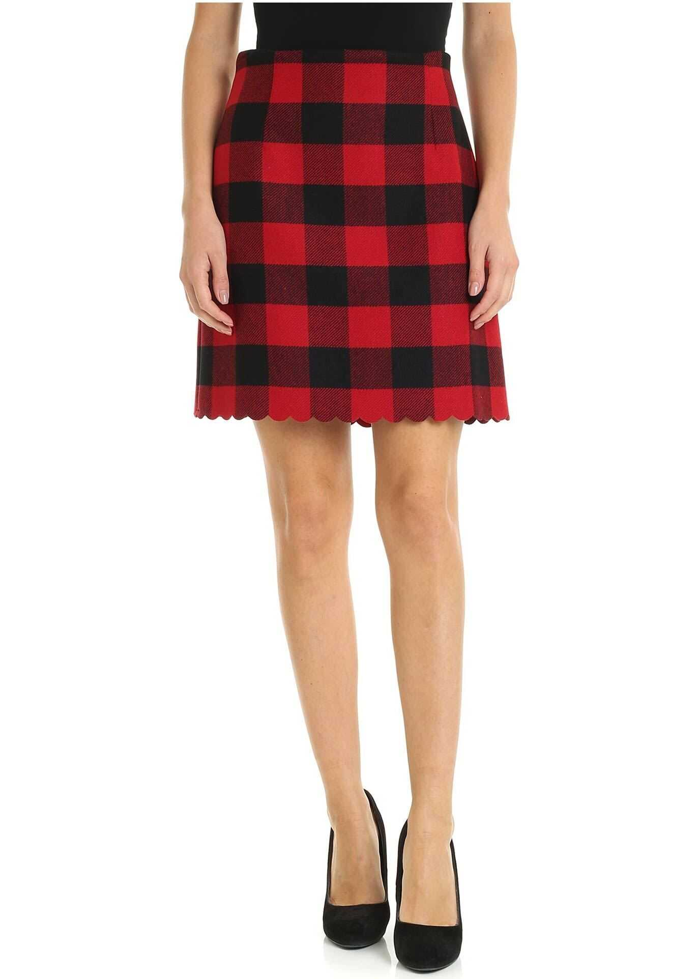 Ozonizzare Skirt In Red And Black Checked thumbnail