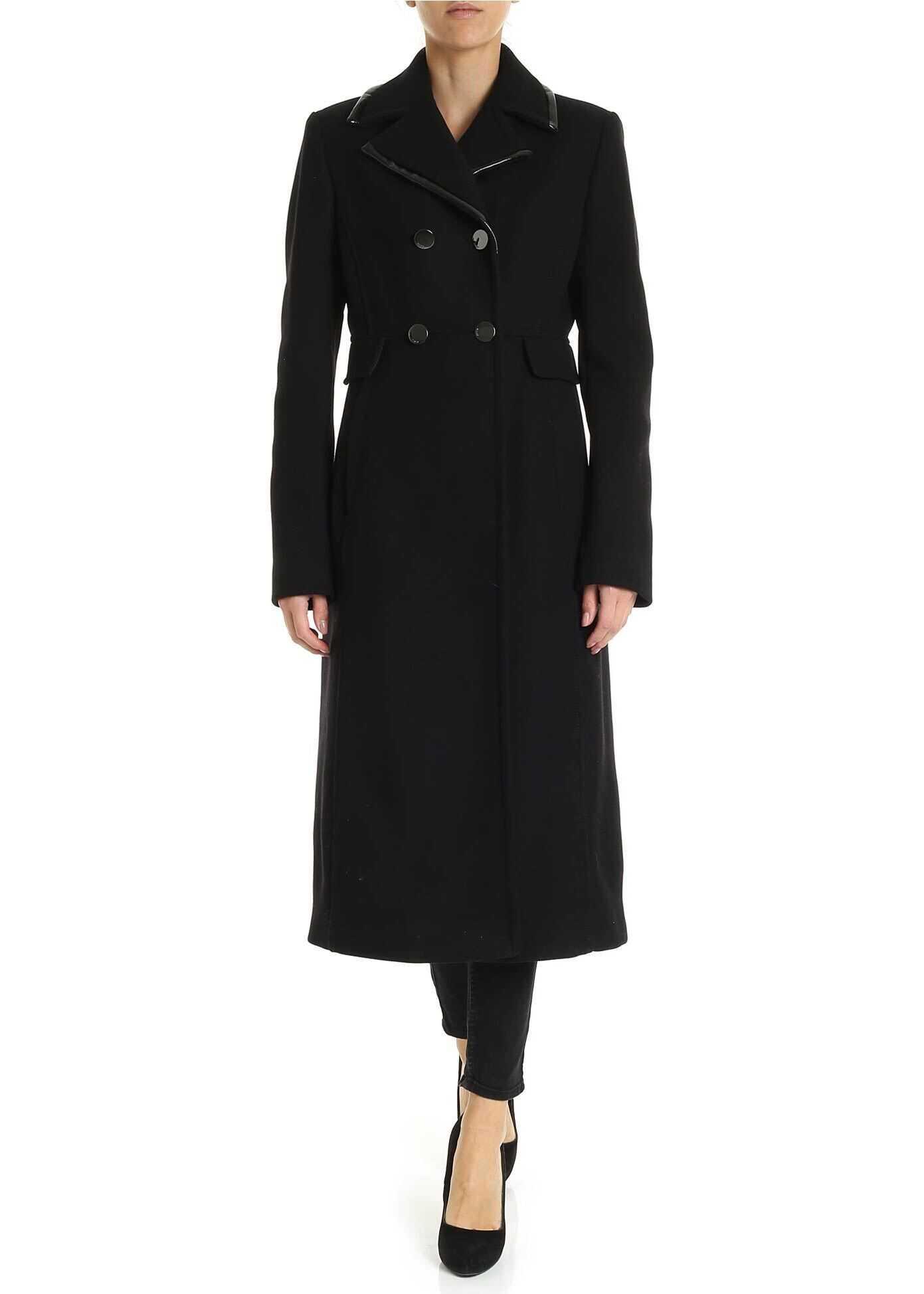 Pinko Preporre Coat In Black Black