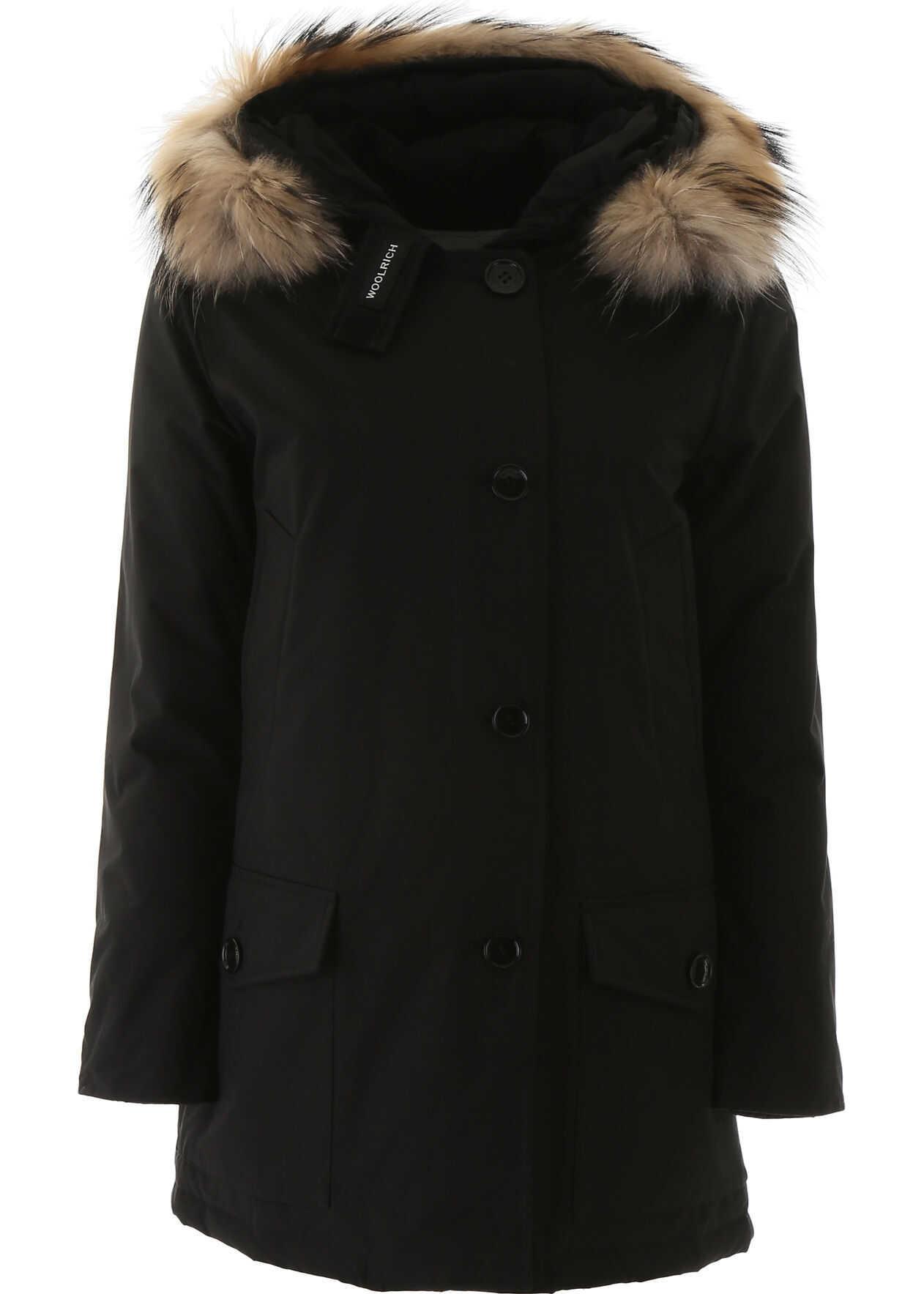 Woolrich Arctic Parka With Murmasky Fur BLACK