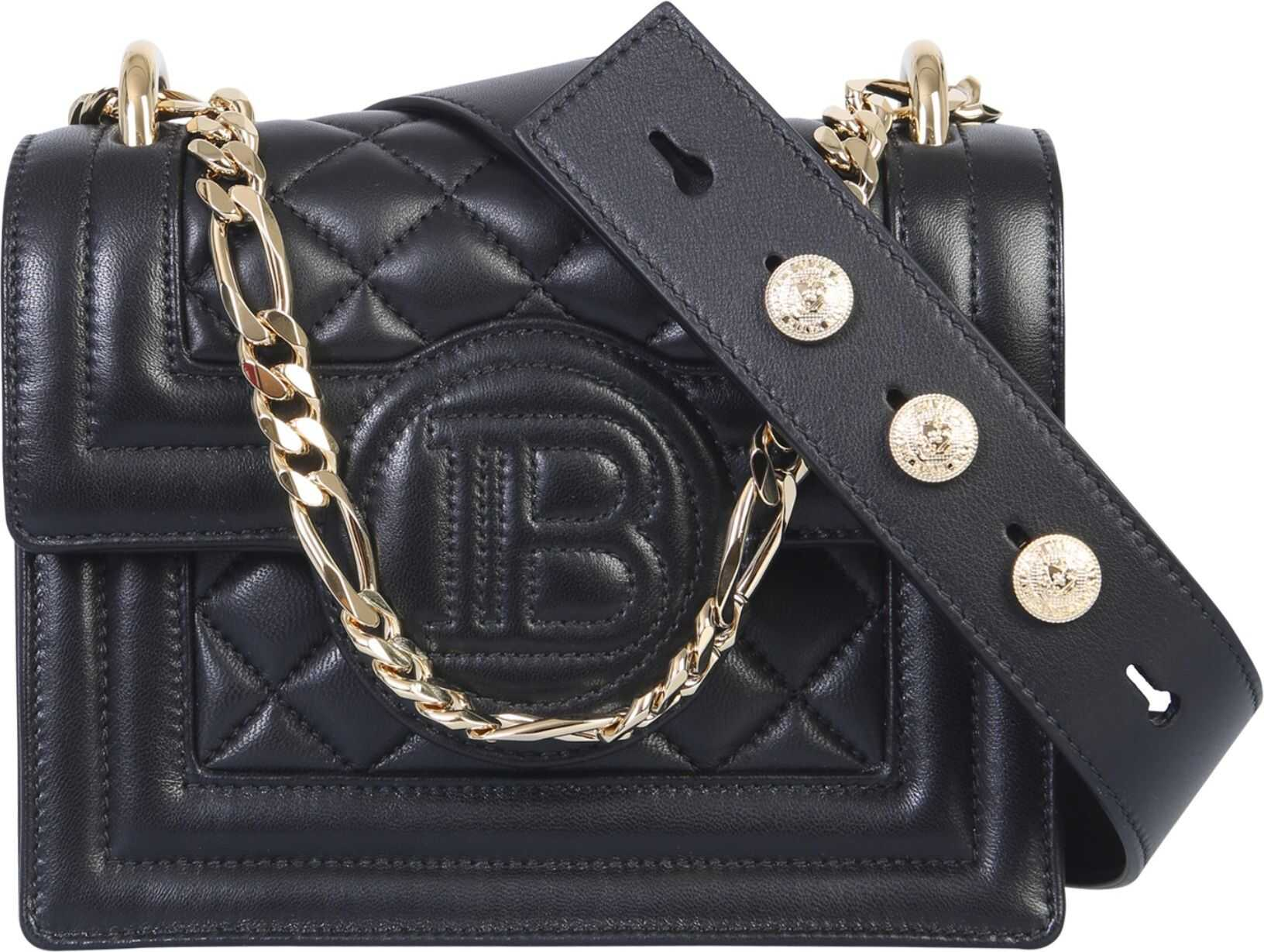 Balmain B-Bag 18 Shoulder Bag BLACK