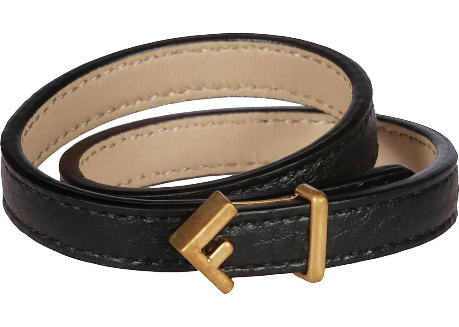 Fendi Leather Bracelet BLACK