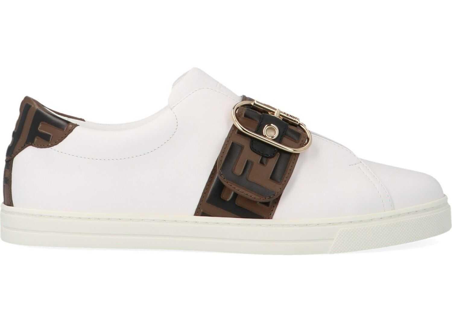 Fendi Leather Slip On Sneakers thumbnail