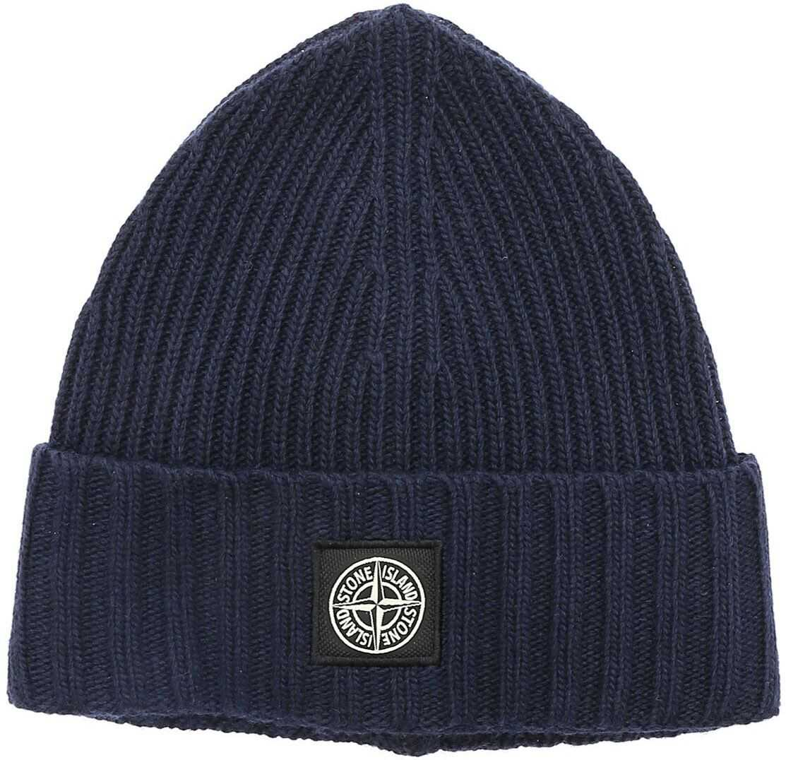 Blue Beanie With Logo Patch thumbnail