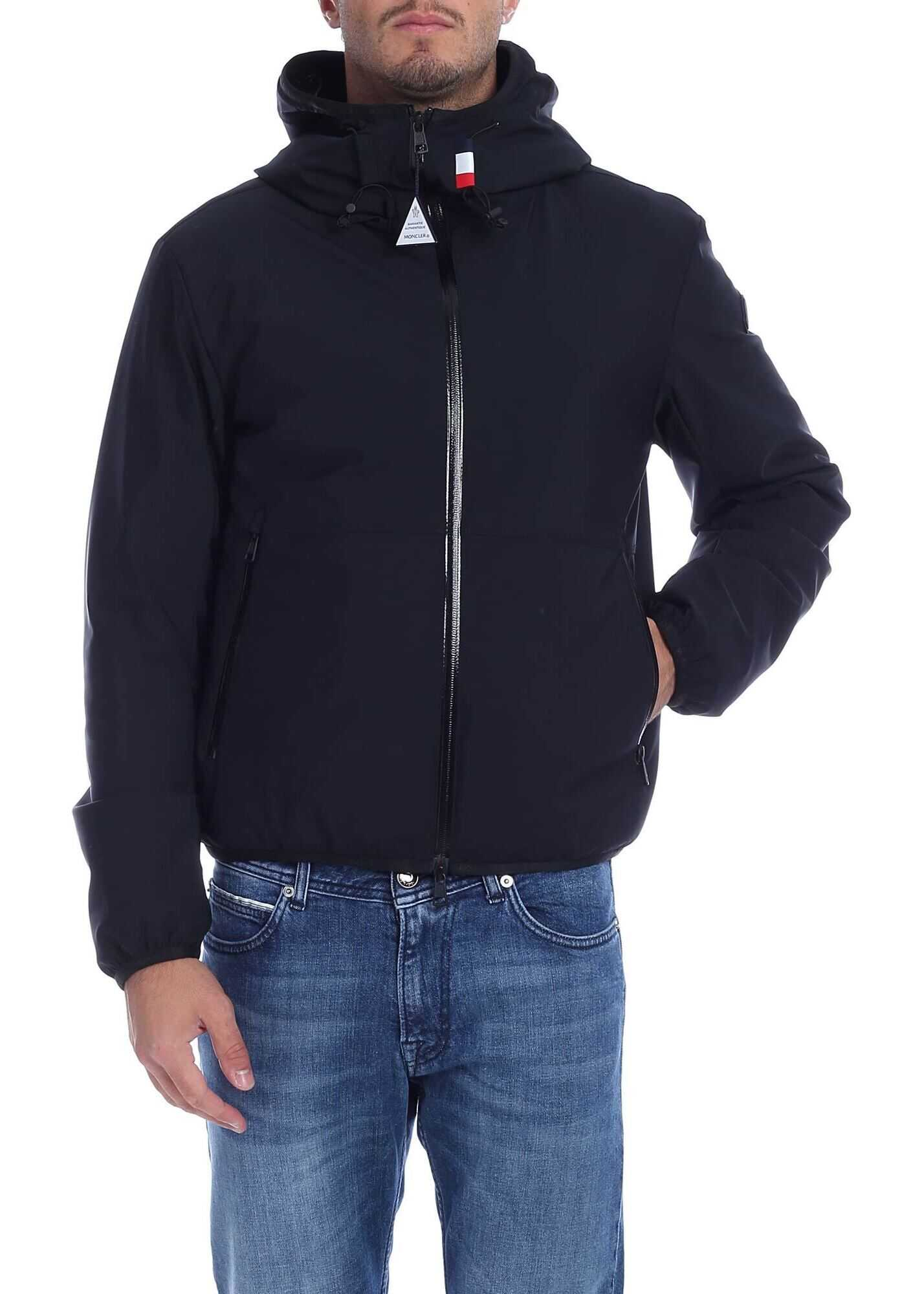Duport Hooded Down Jacket In Black thumbnail