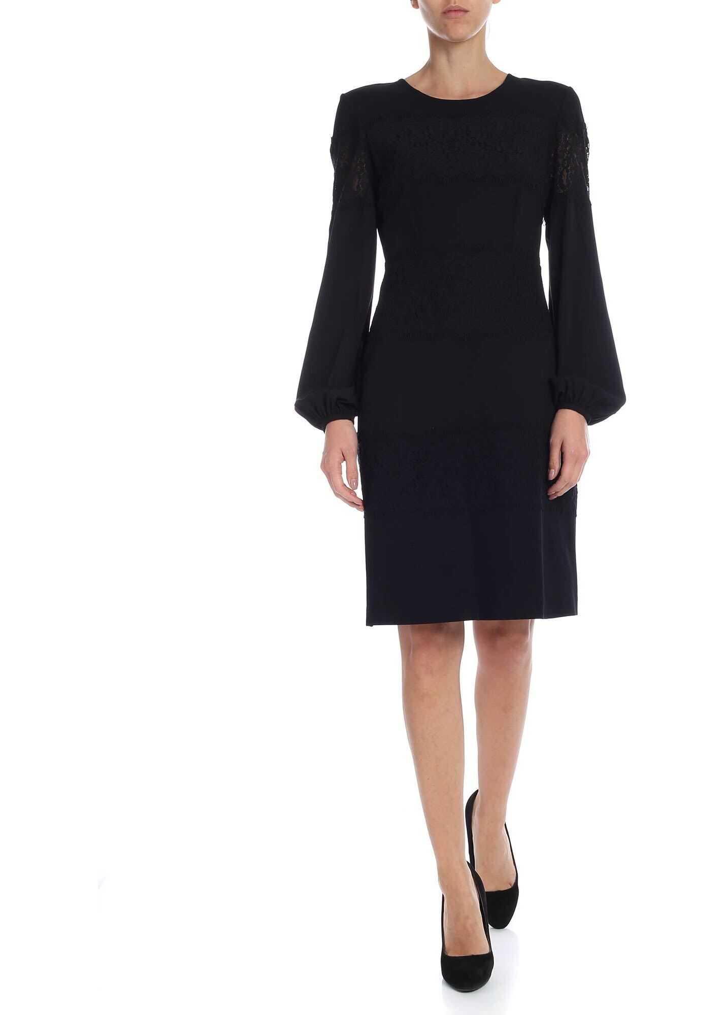 Black Dress With Lace Details thumbnail