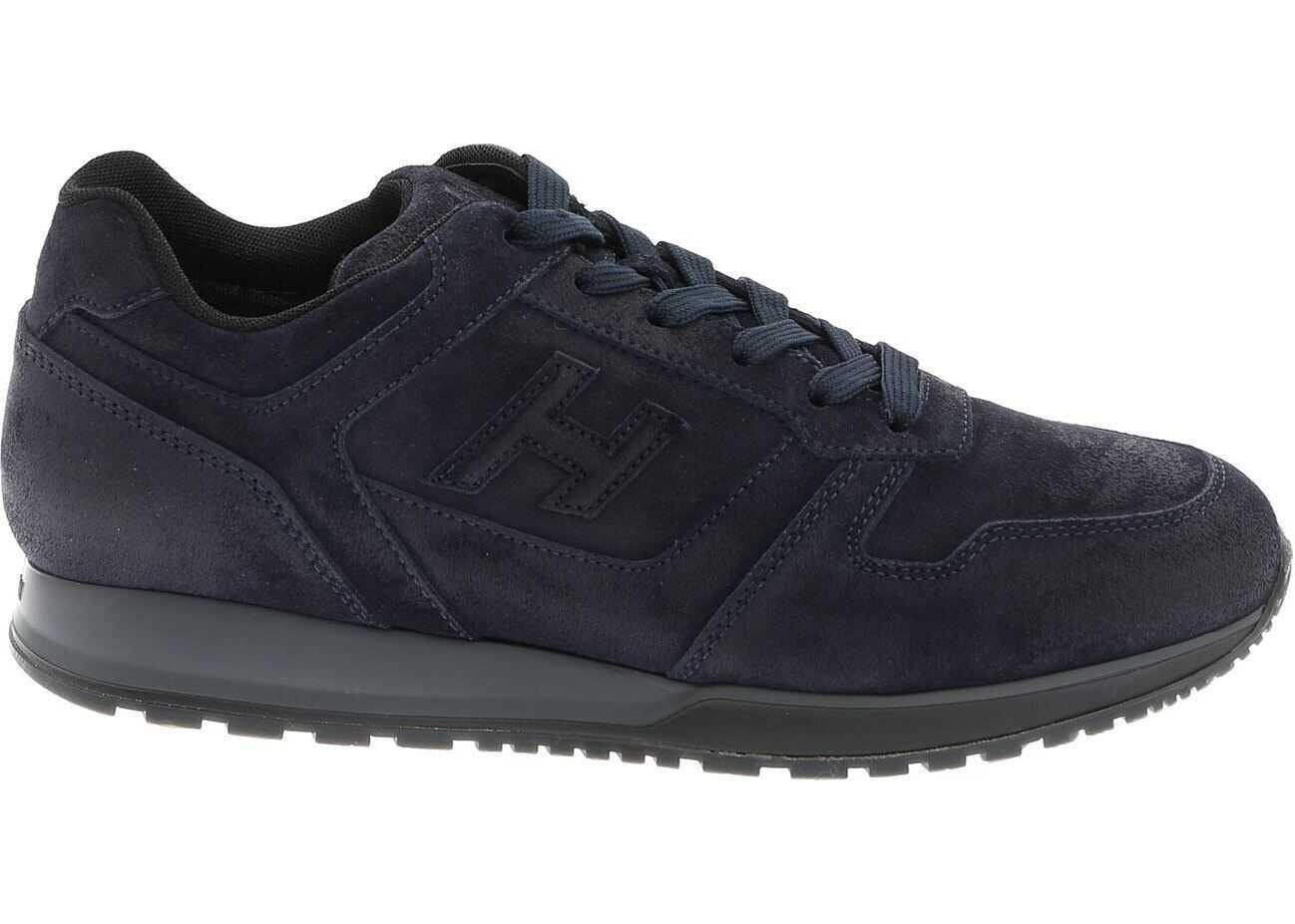 Hogan H321 Sneakers In Blu Blue