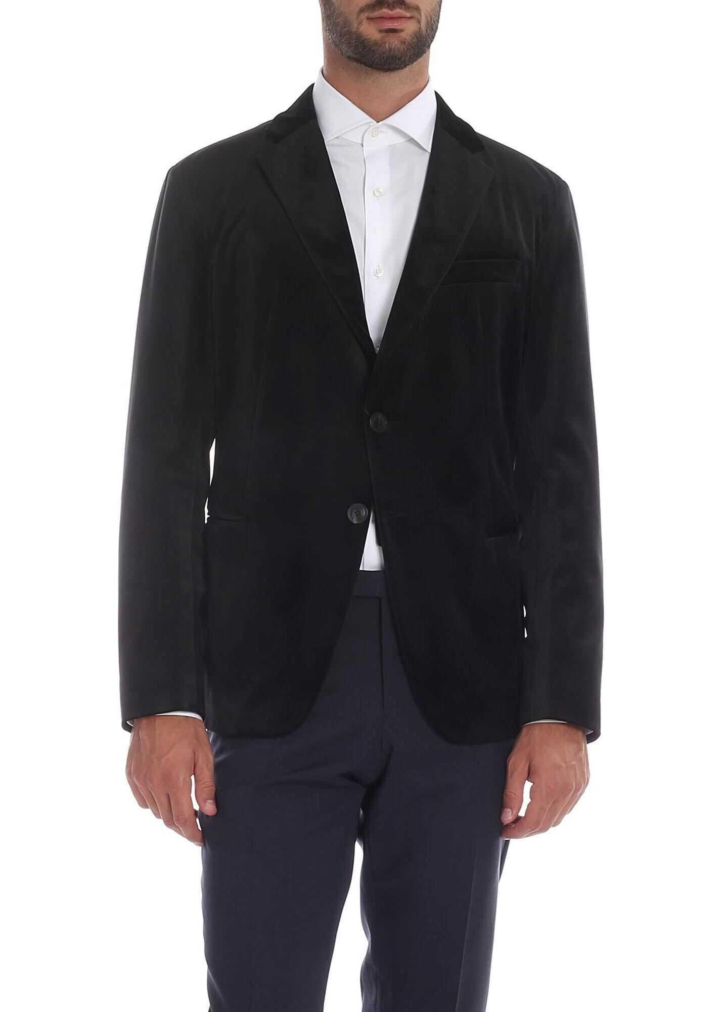 Emporio Armani Velvet Blazer BLACK