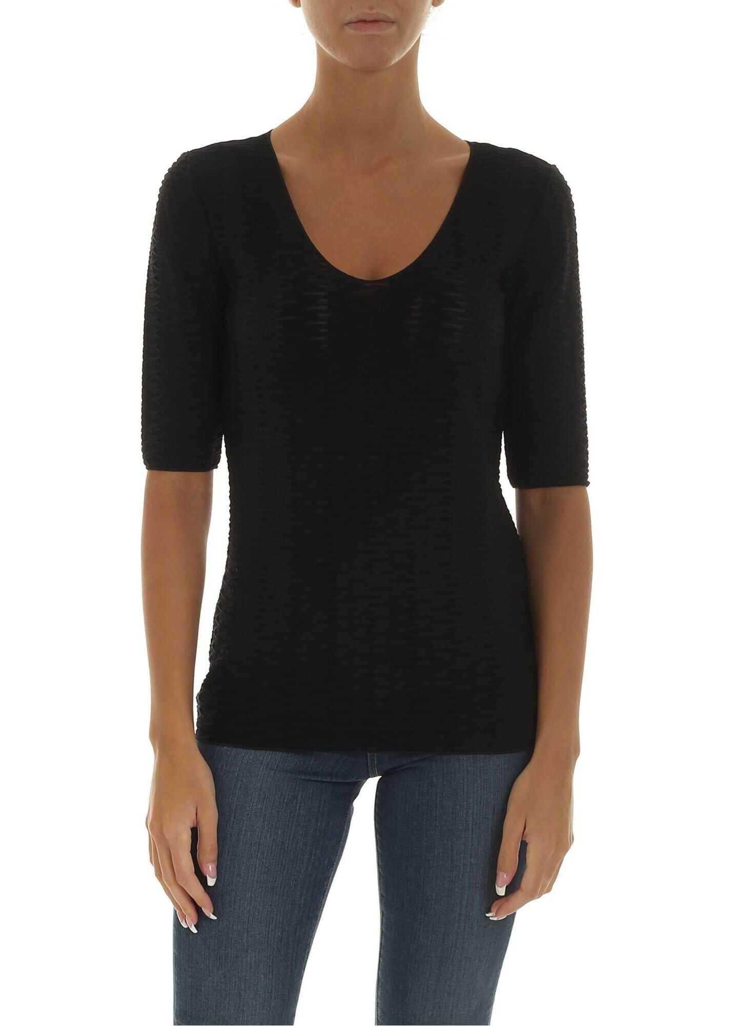 Emporio Armani Cotton T-Shirt BLACK