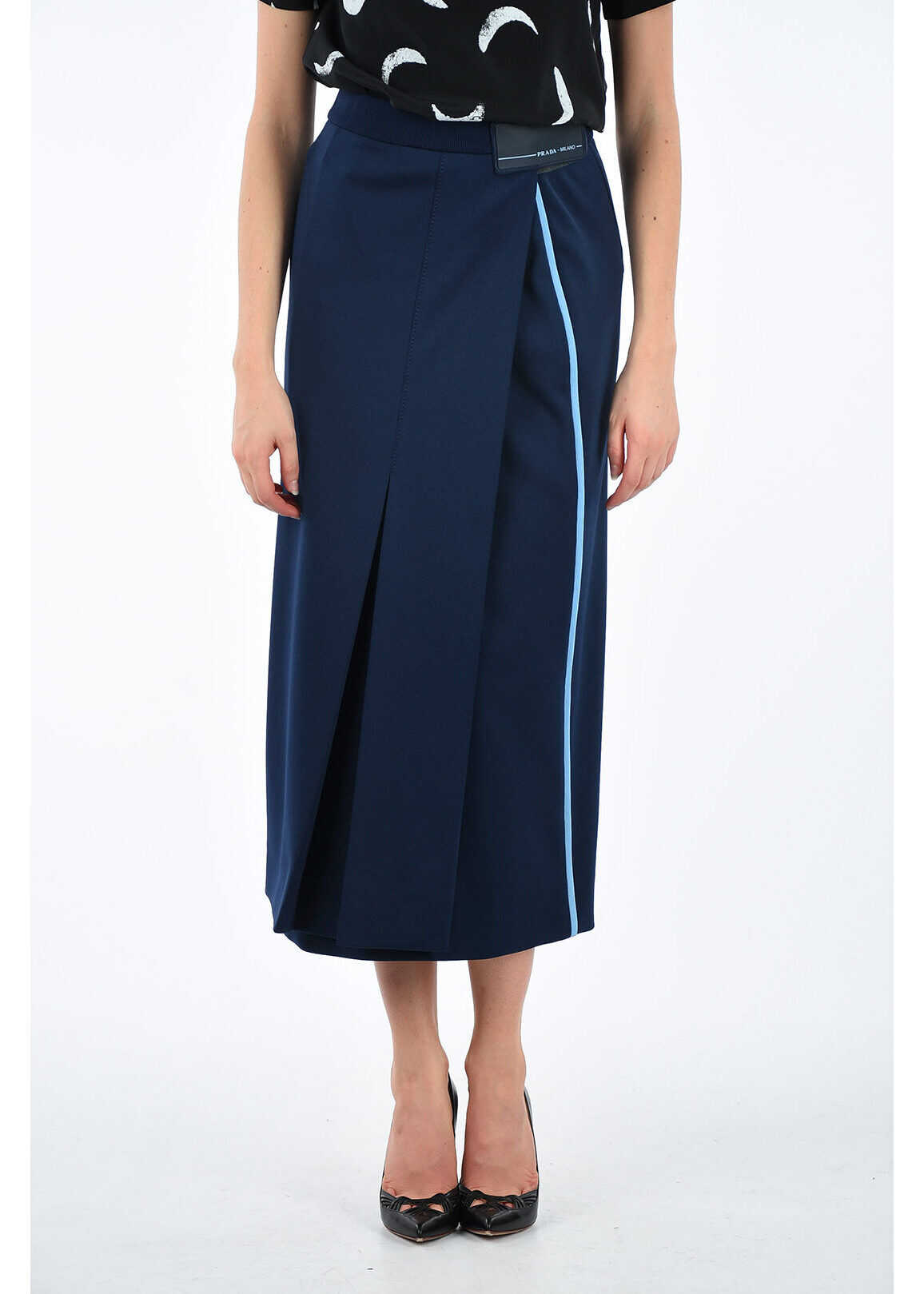 Prada Pleated Skirt BLUE