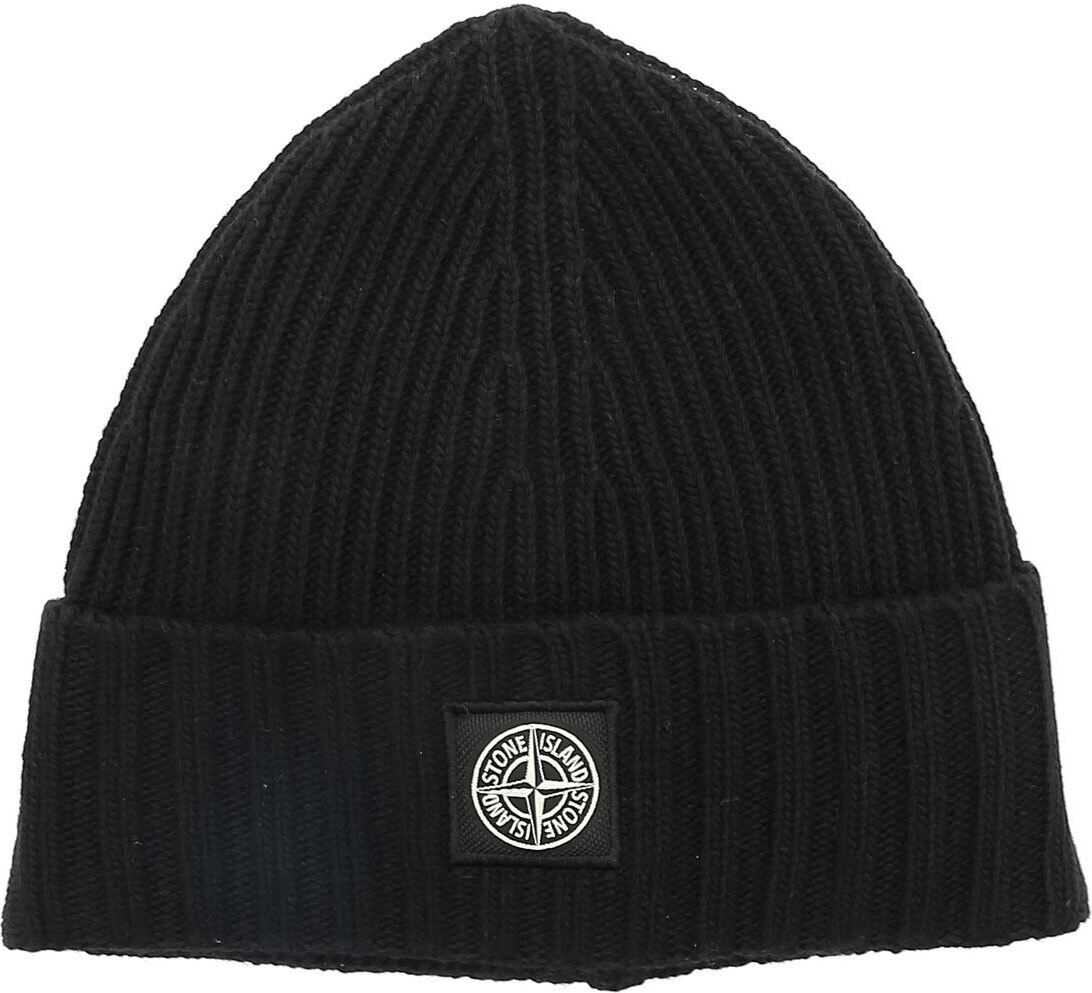 Black Beanie With Logo Patch thumbnail