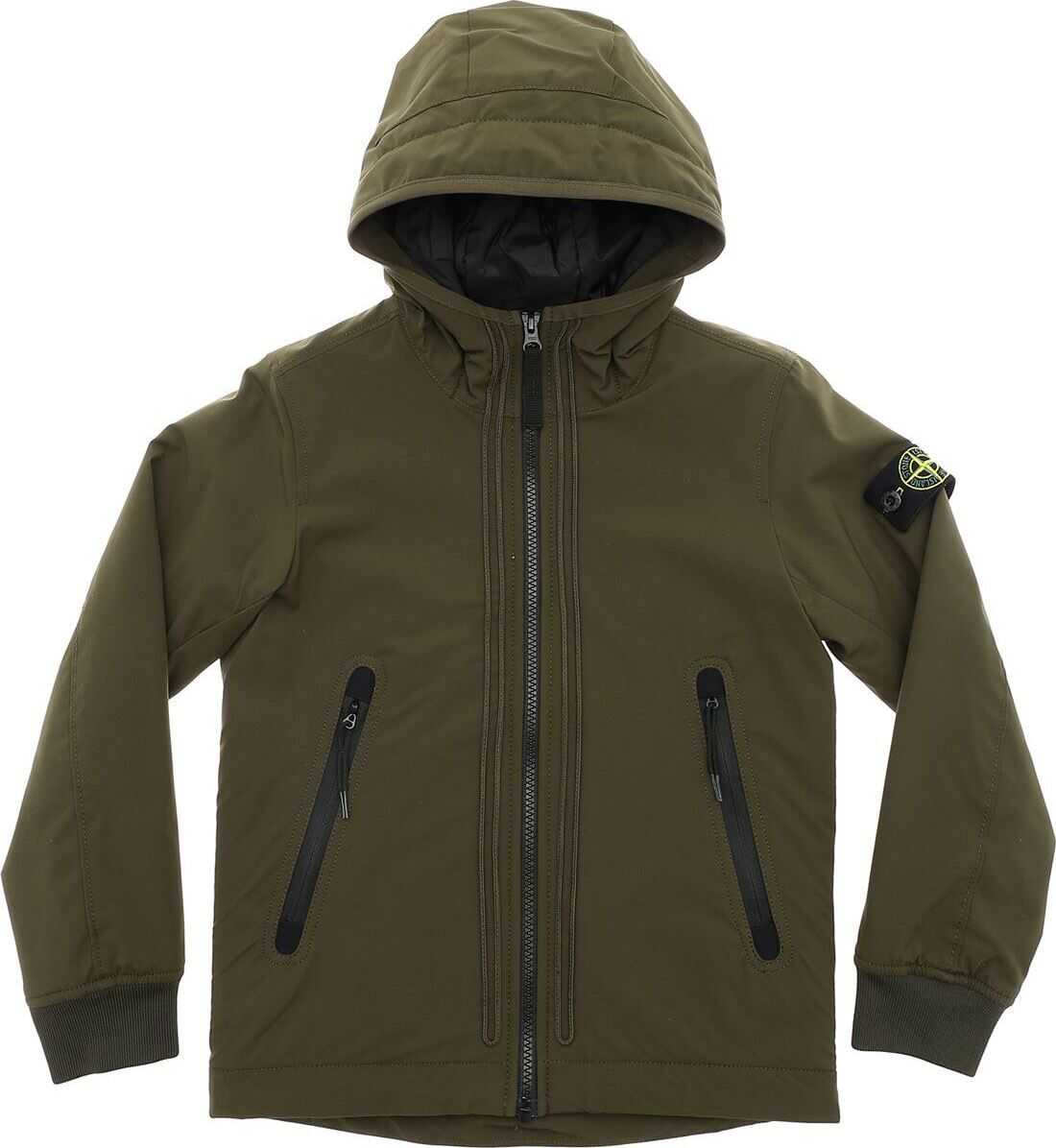 Army Green Padded Jacket In Primaloft thumbnail