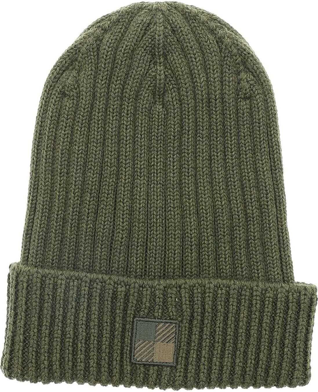 Logo Patch Beanie In Military Green thumbnail
