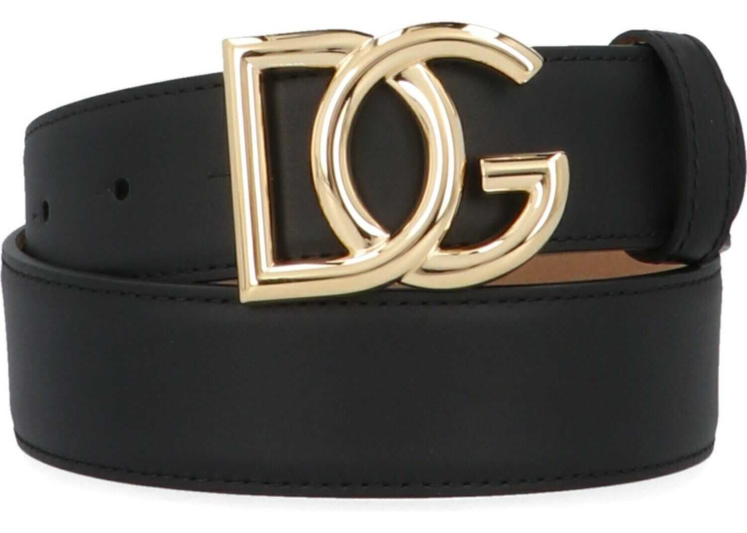 Dolce & Gabbana Leather Belt BLACK