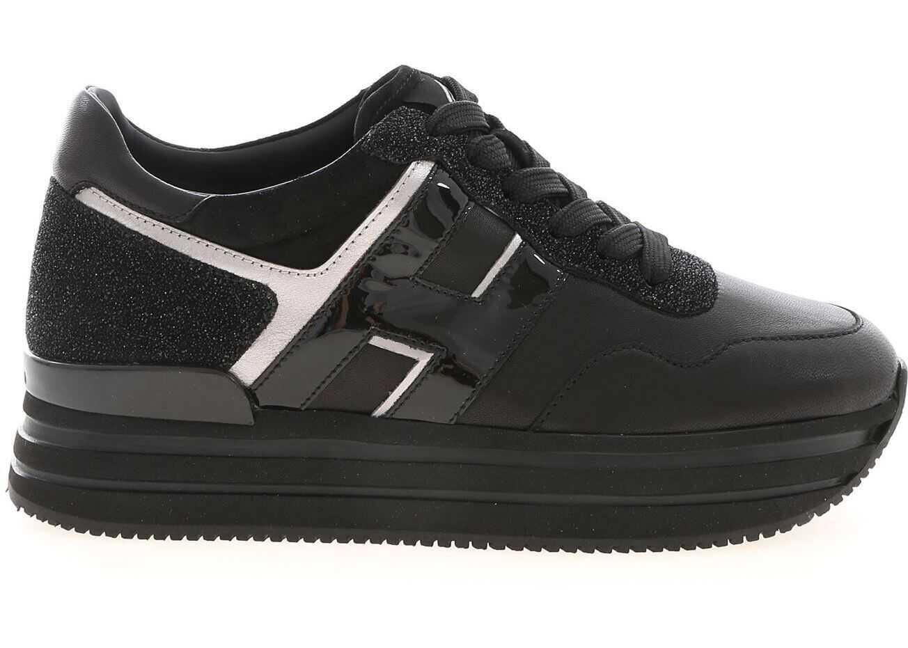 Hogan H483 Sneakers In Black Black