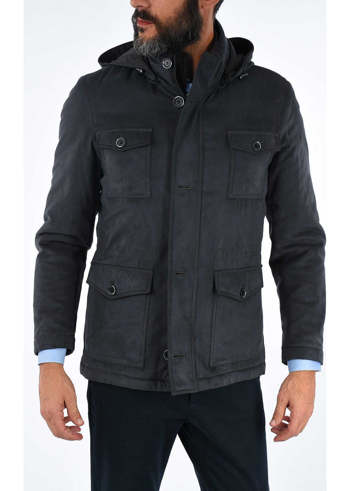 CC COLLECTION Hooded Utility Jacket