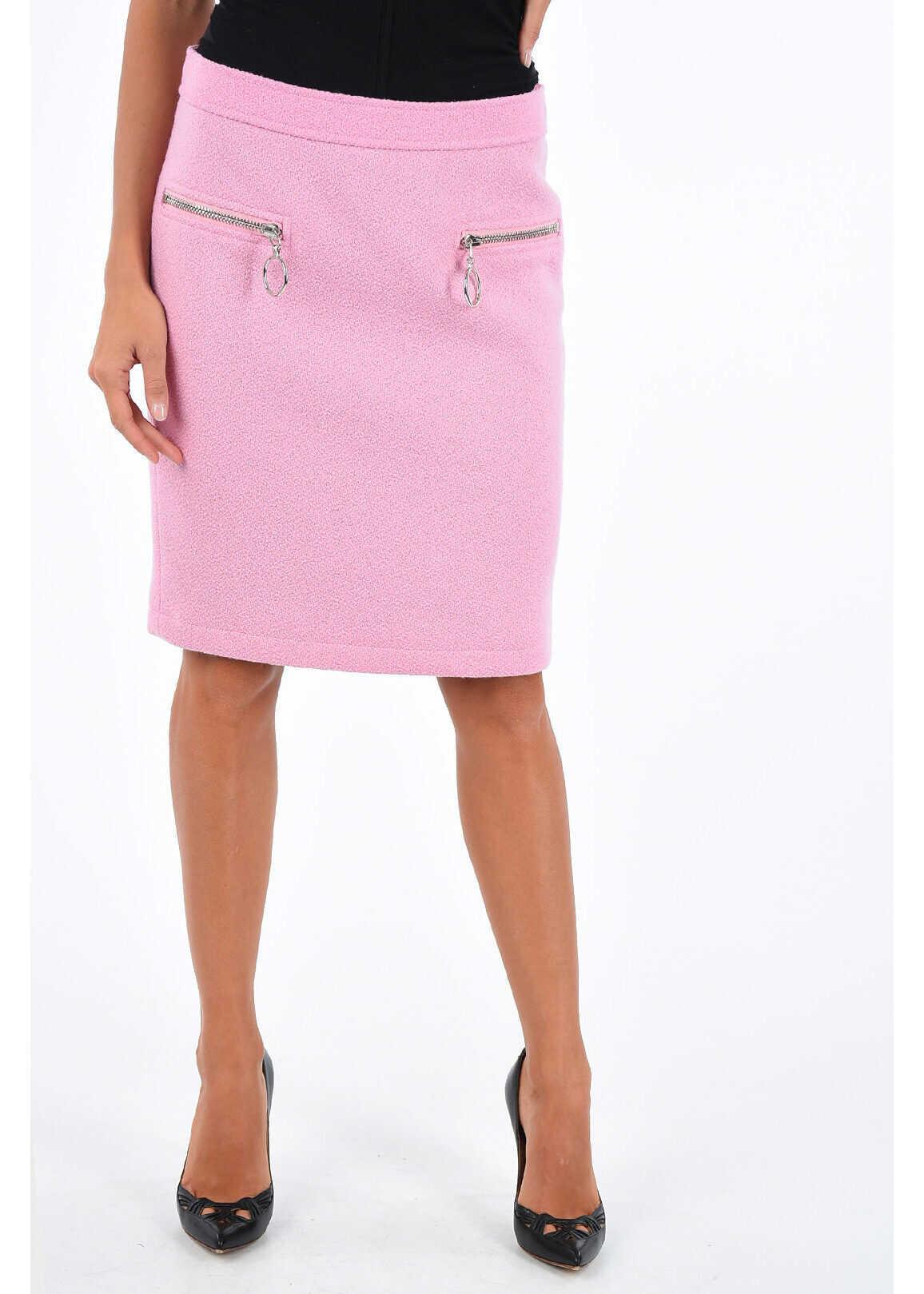 COUTURE split-back hem knee lenght pencil skirt thumbnail