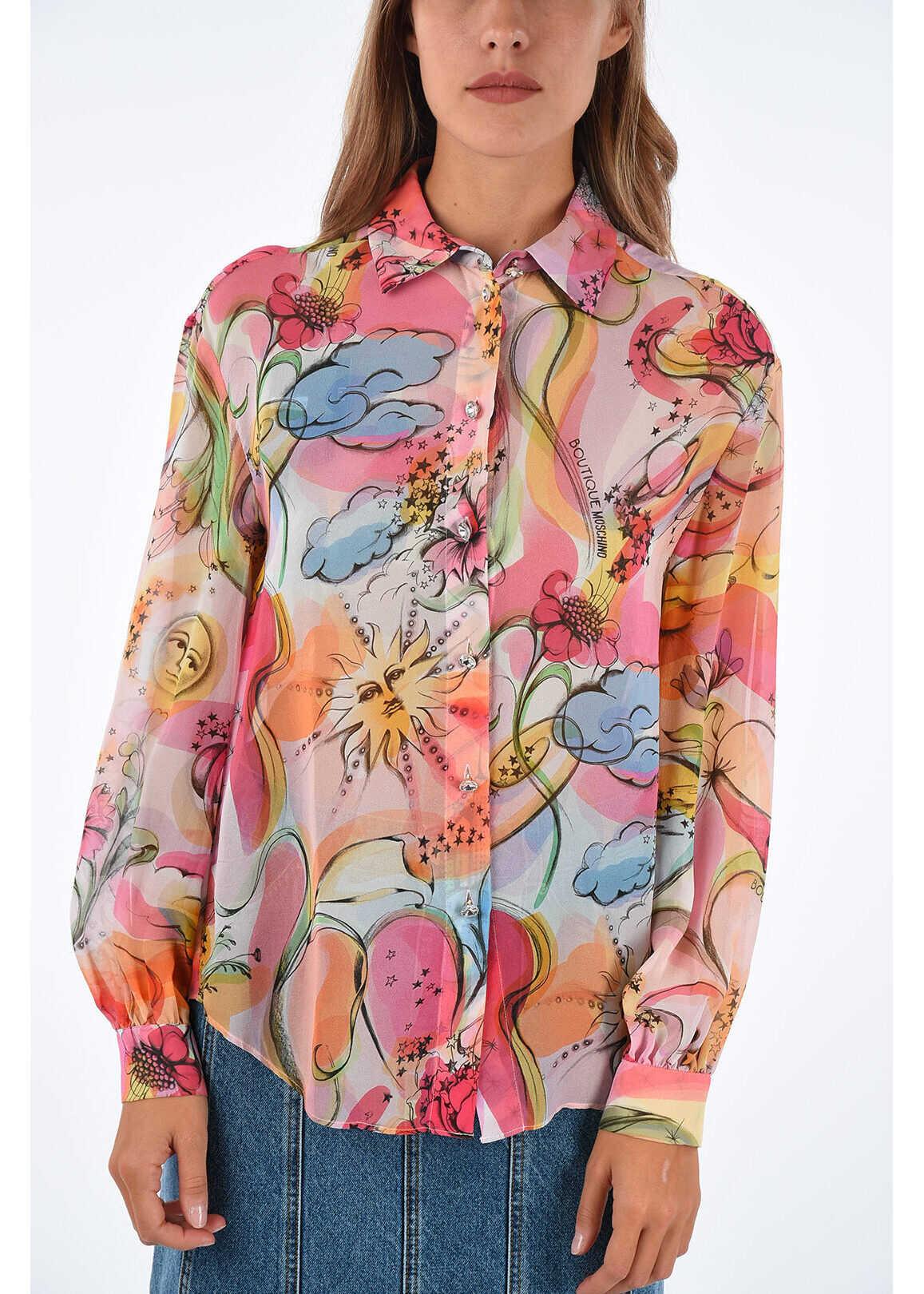Moschino BOUTIQUE silk blouse MULTICOLOR