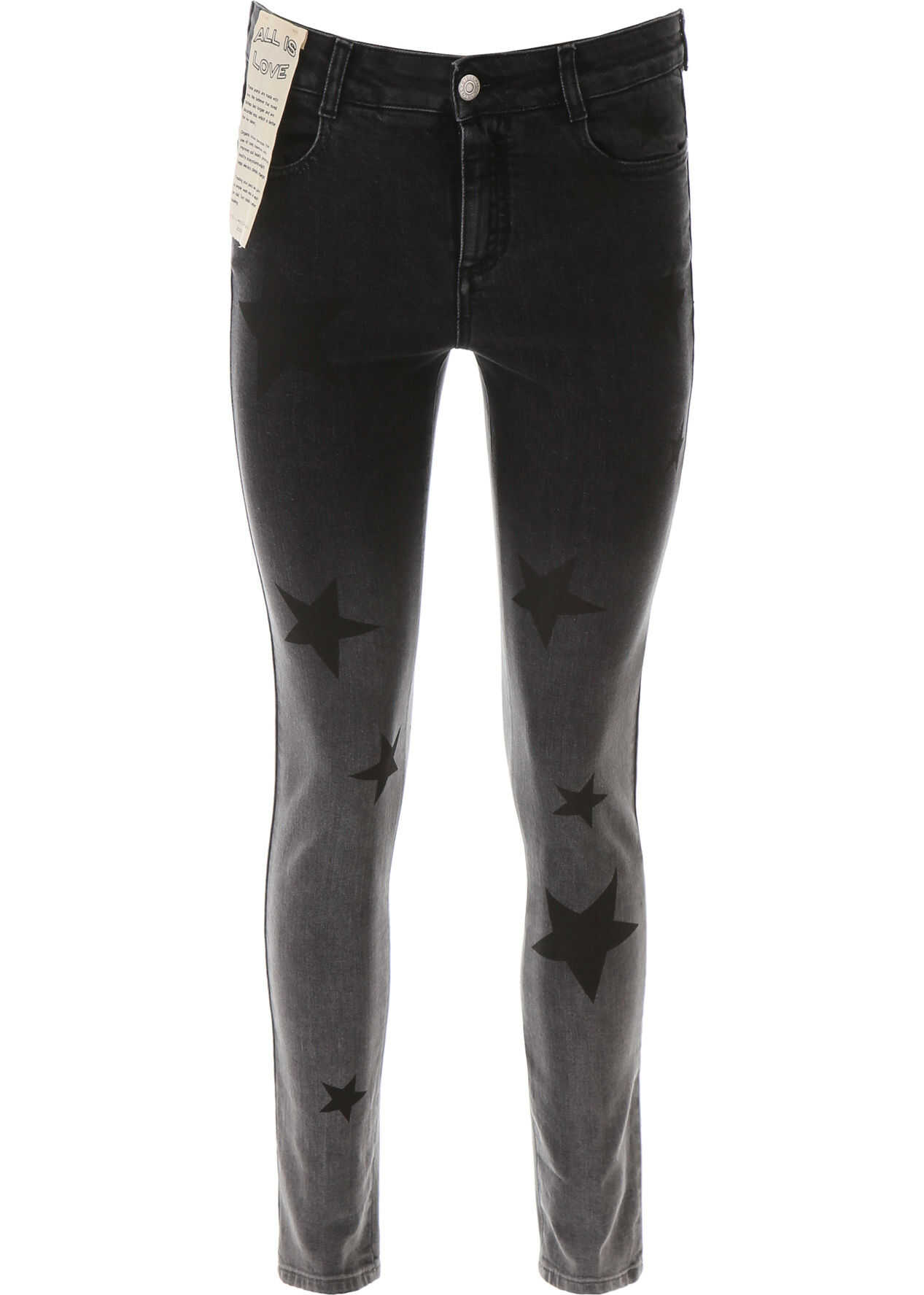 adidas by Stella McCartney Skinny Jeans With Star Print GREY DEGRADE