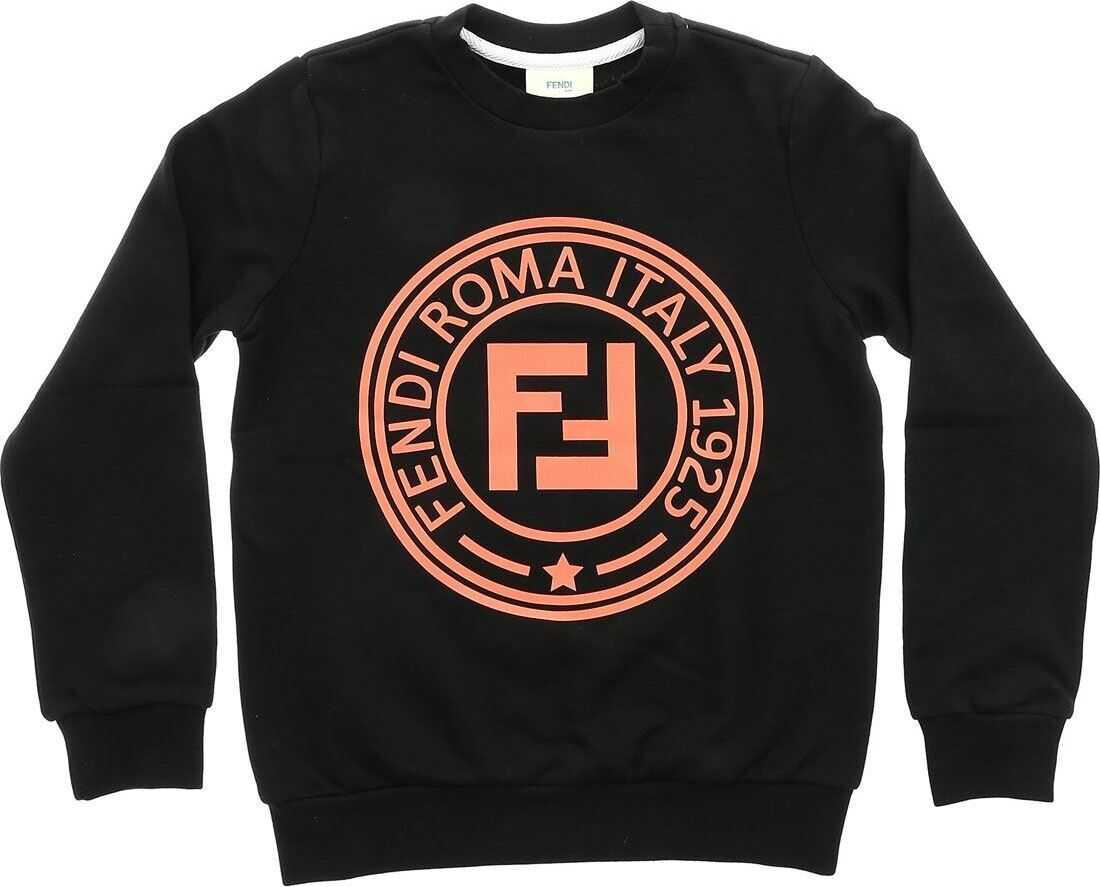 Black Sweatshirt With Pink Fendi Stamp Logo thumbnail