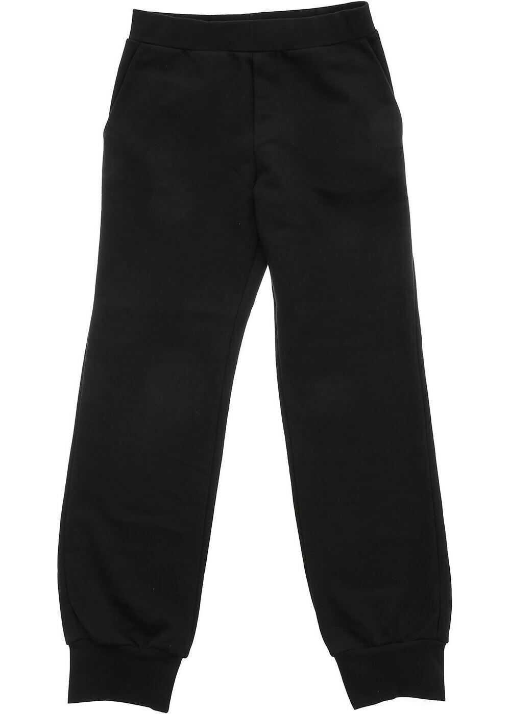 Fendi Kids Black Sweat Pant With Fendi Stamp Logo Black
