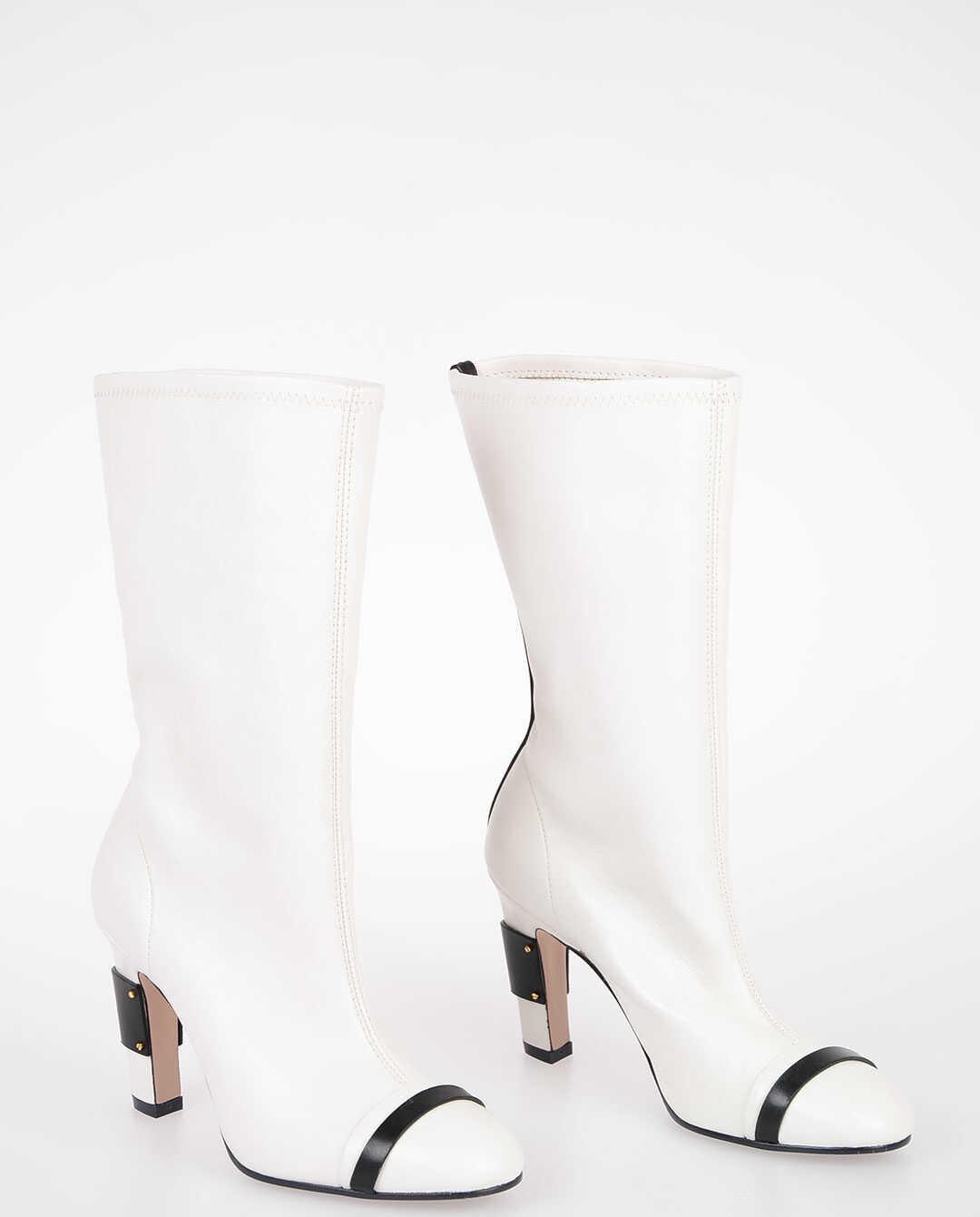 Stuart Weitzman 10cm Leather PORTER boots WHITE