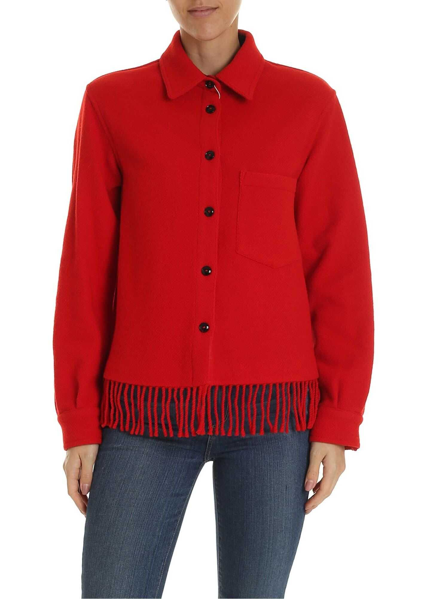 Blanket Shirt In Red thumbnail