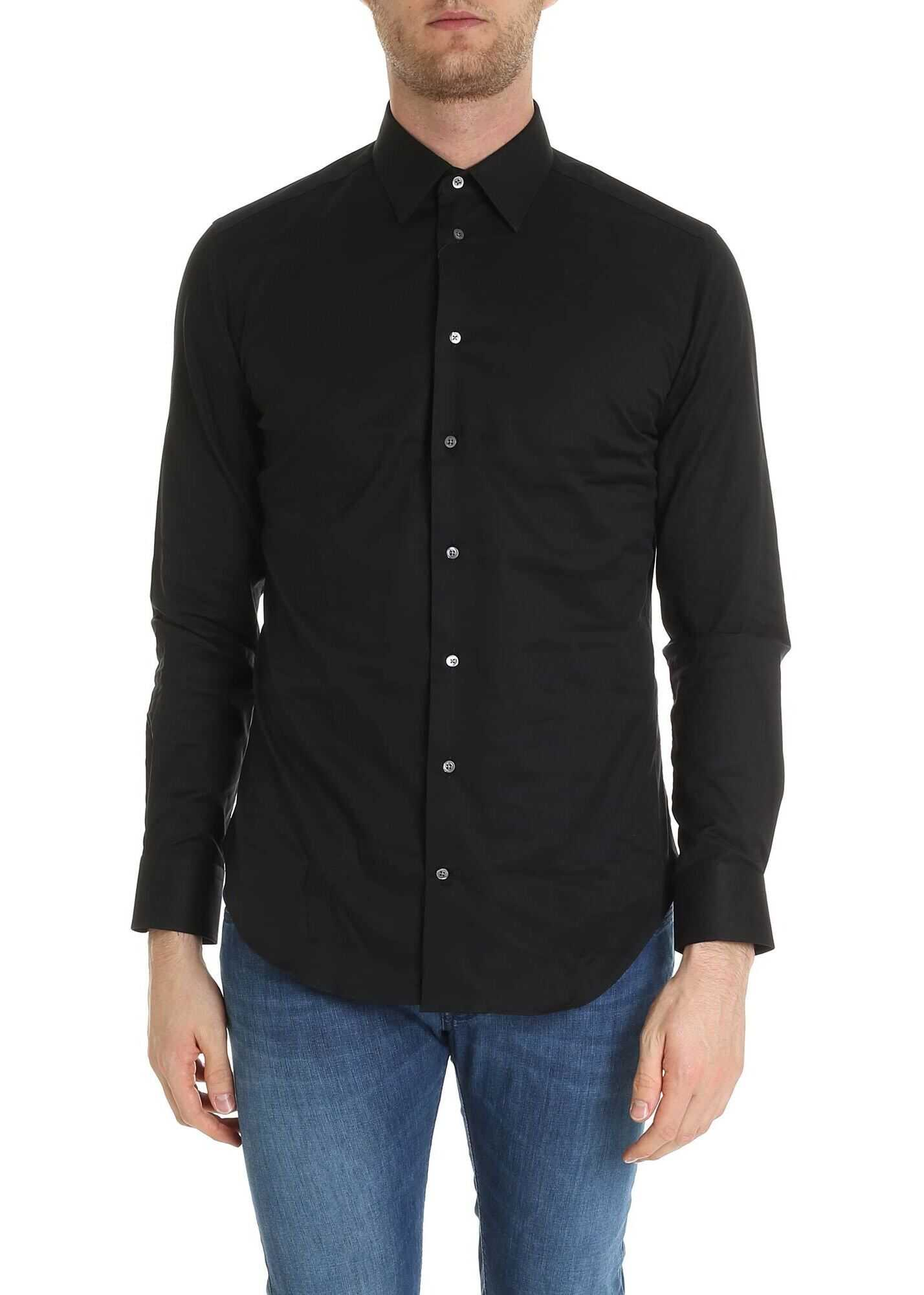 Slim Fit Shirt In Black thumbnail