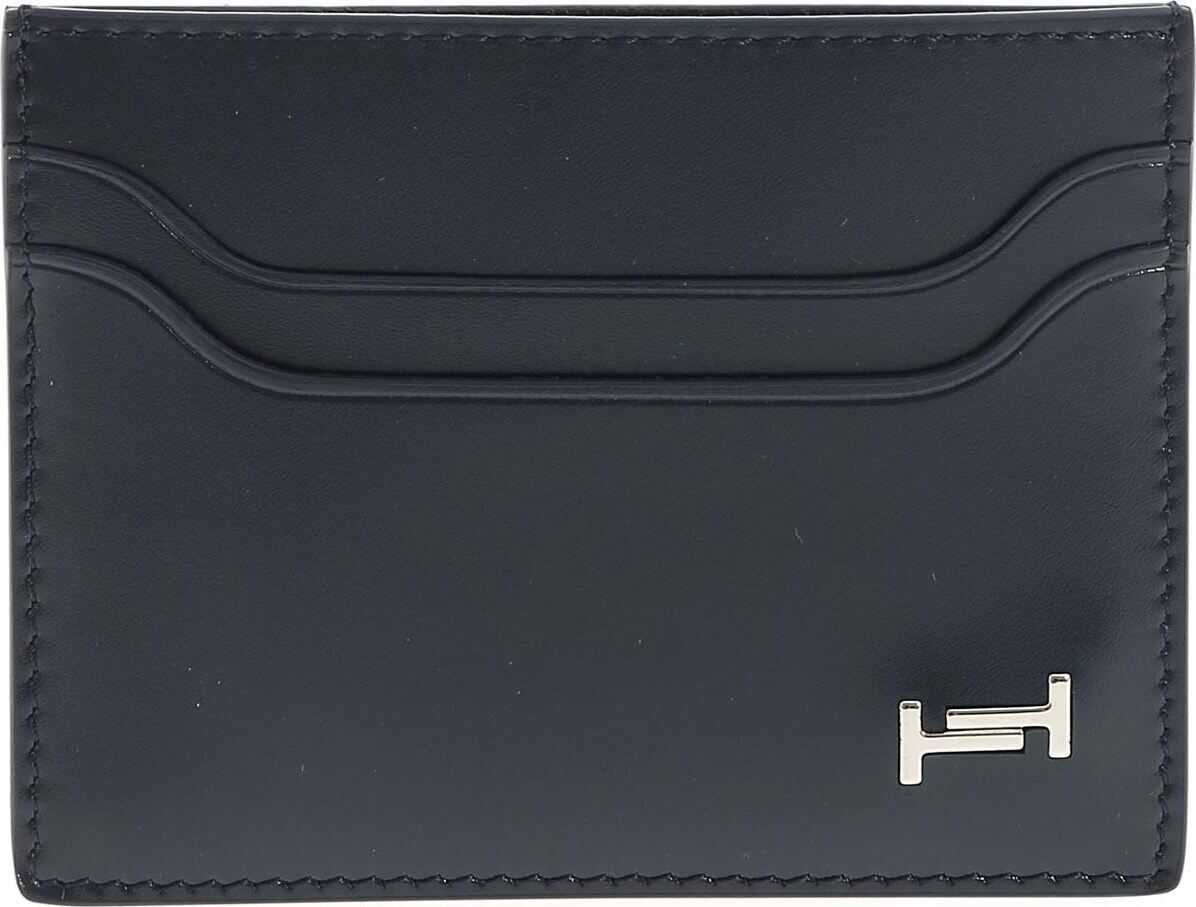Blue Card Holder With Metal Logo thumbnail