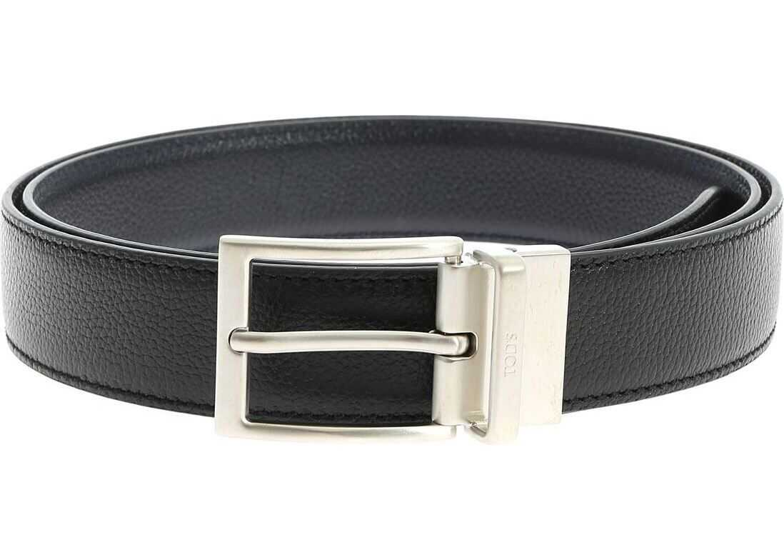 Reversible Belt In Black And Blue thumbnail
