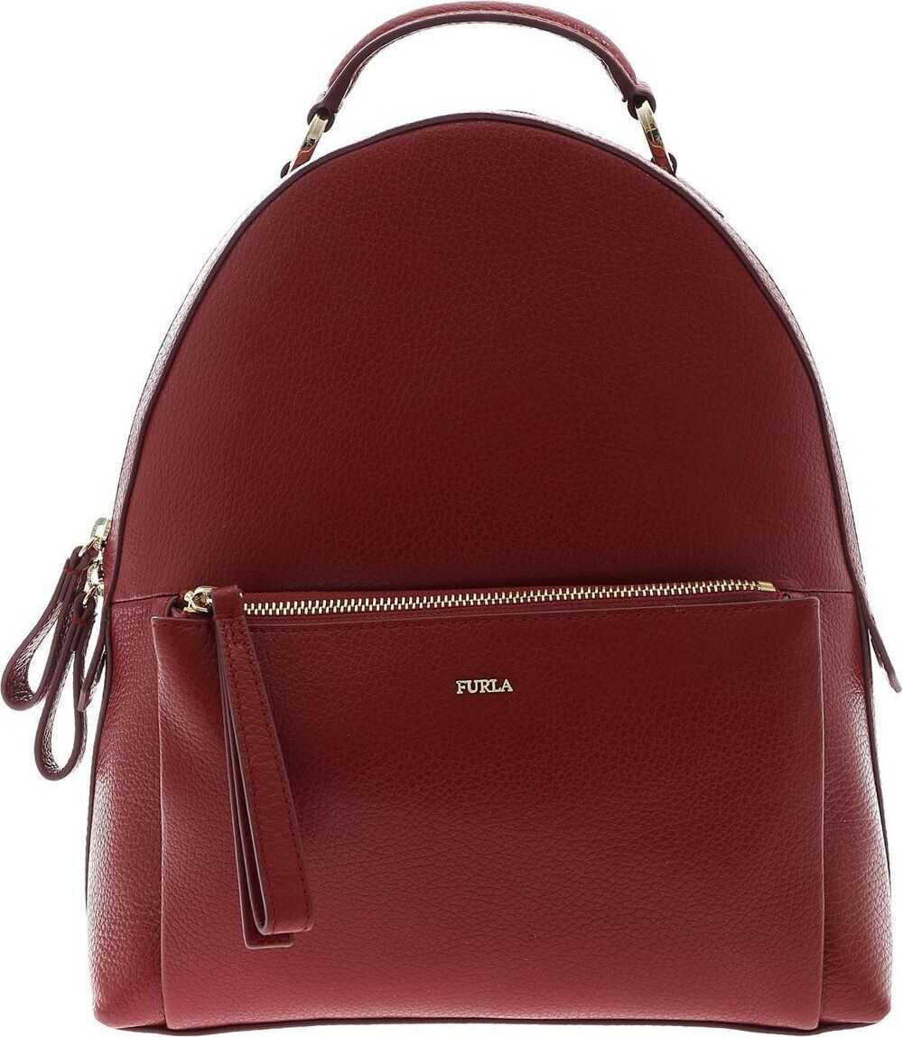 Furla Leather Backpack RED