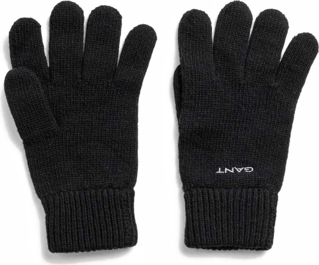 GANT Wool Gloves BLACK