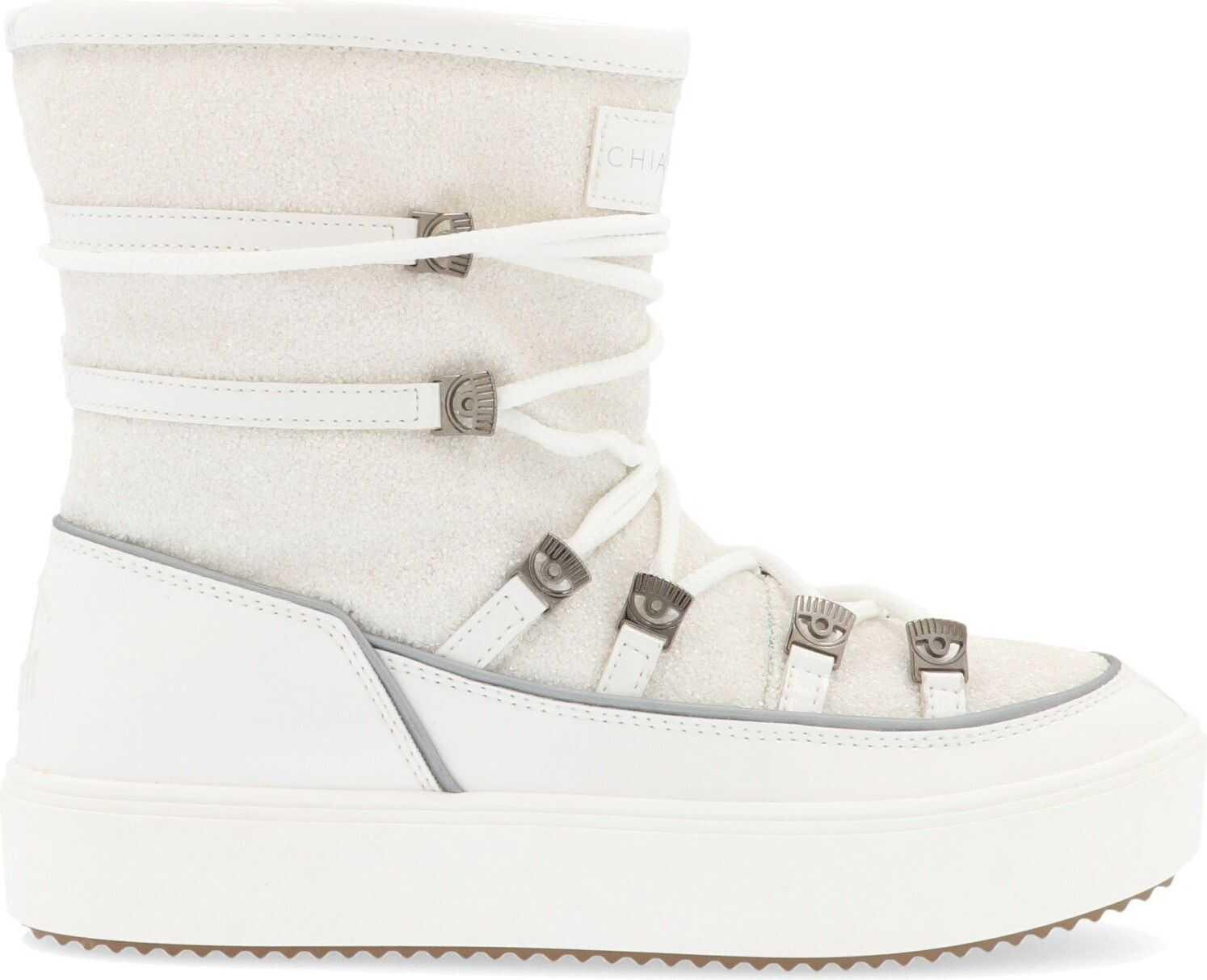 Chiara Ferragni Polyester Ankle Boots WHITE