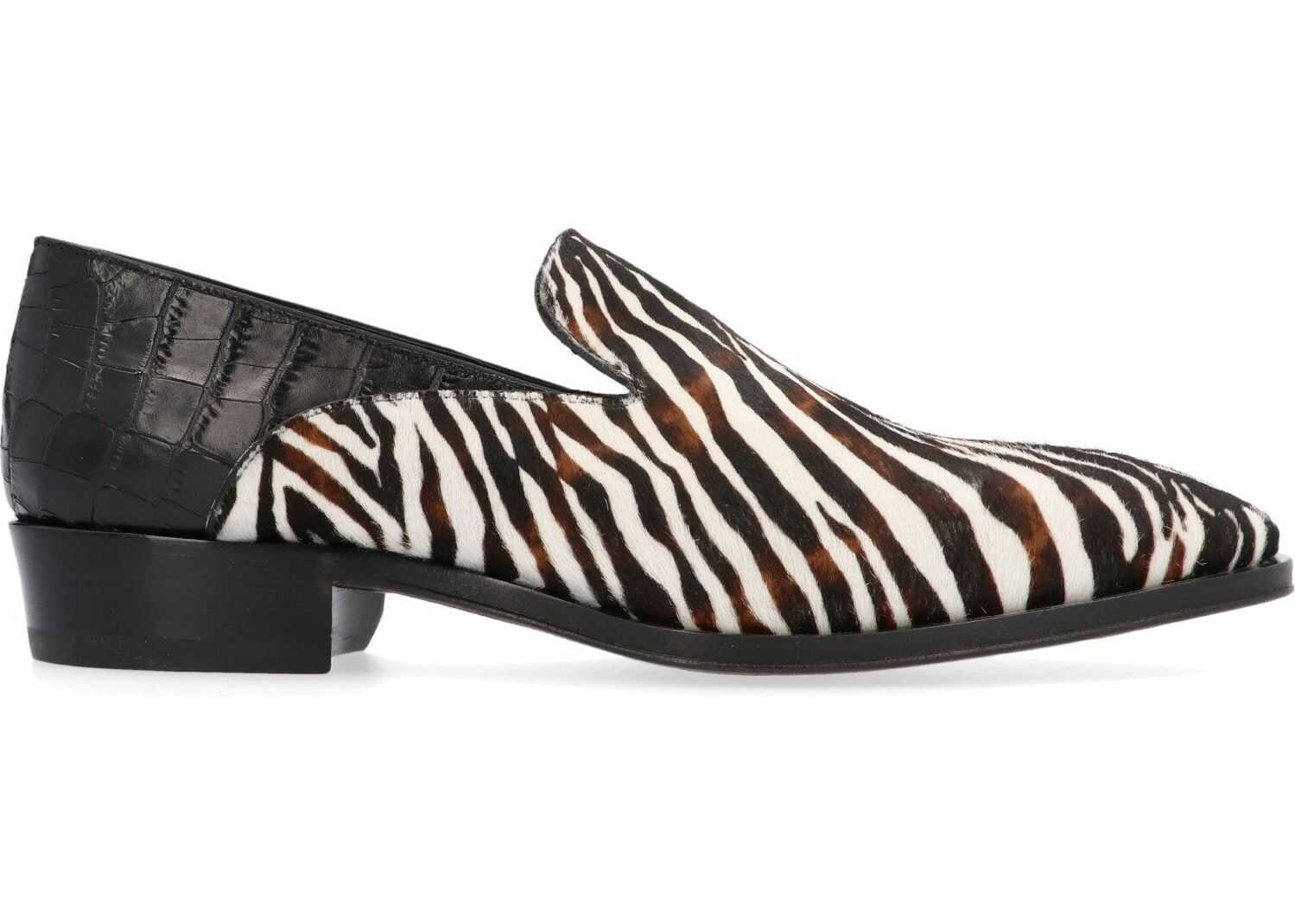 Giuseppe Zanotti Leather Loafers MULTICOLOR