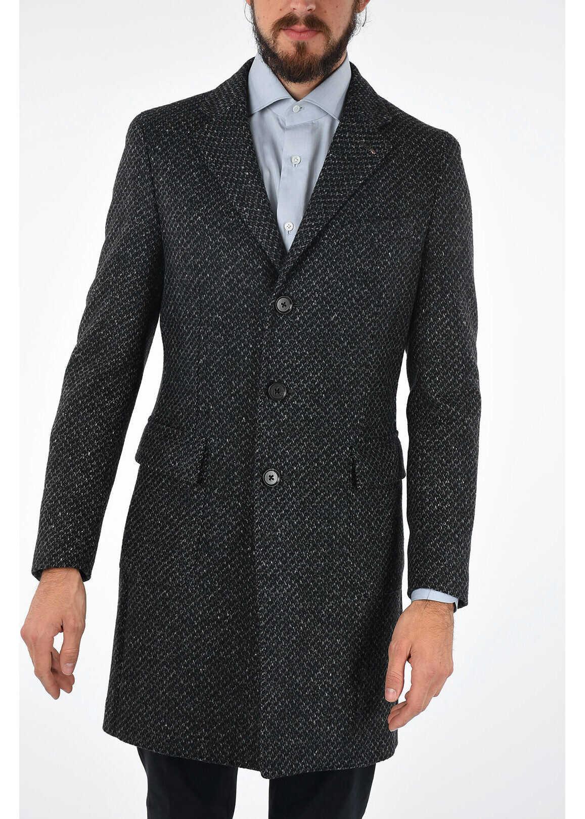 CORNELIANI 8R DROP Silk Blended Single Breasted 3 Button Coat N/A
