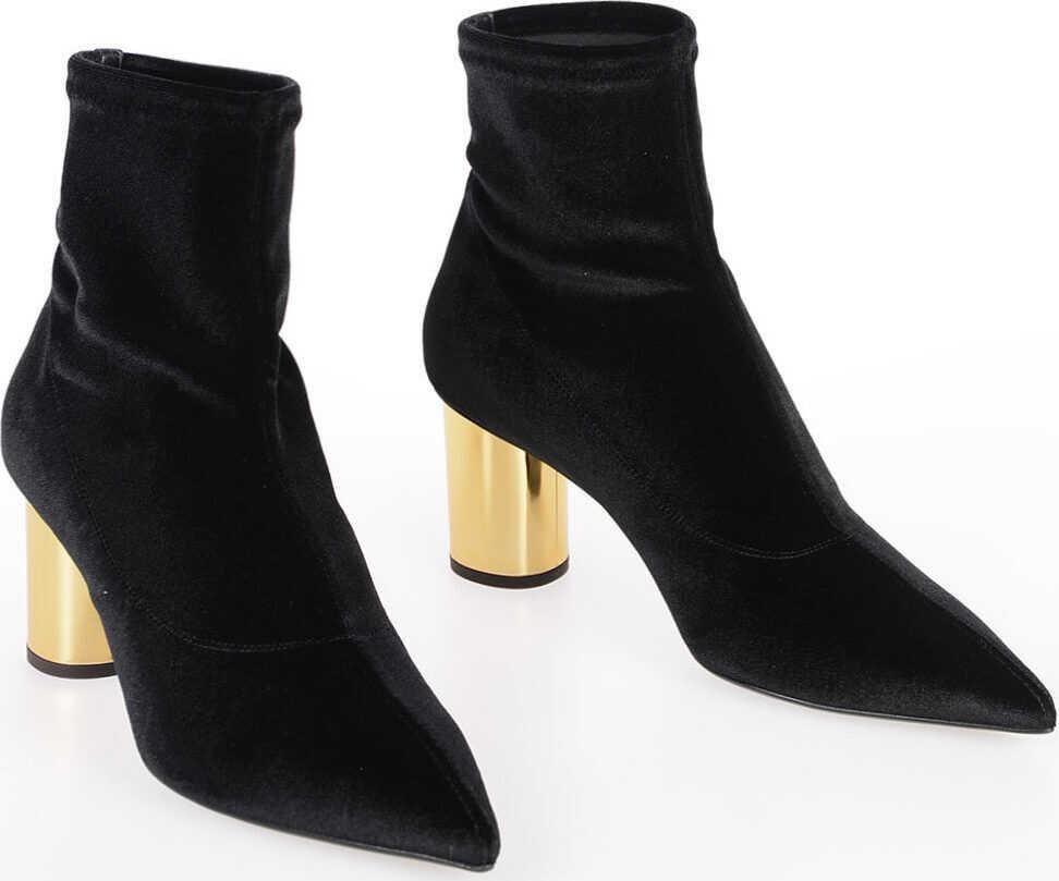 Giuseppe Zanotti 7cm Velvet CRUDELIA Ankle Boots BLACK