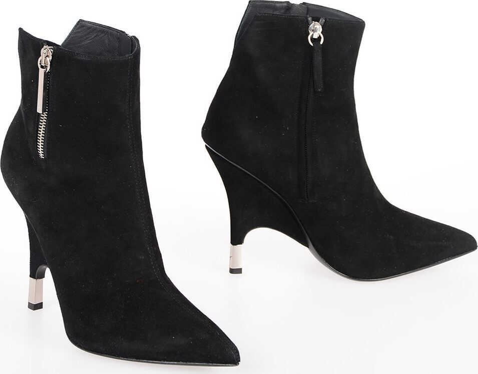 Giuseppe Zanotti 11cm Suede Leather Ankle Boots BLACK